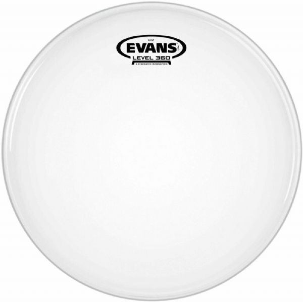 Evans 14 inch Coated Drum Head - White - B14G12